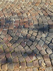Ein gepflasterter Gartenweg aus Naturstein wertet jeden Garten auf